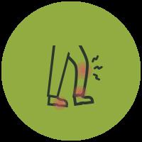 Symptom List Icons Lower Extremity Pain